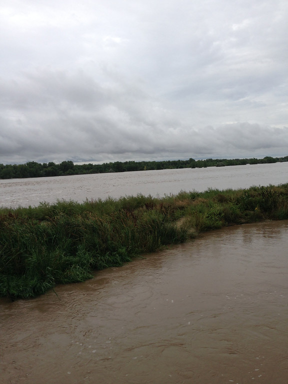Description of . Flooding of the South Platte River near Messex Sunday, Sept. 15, 2013.